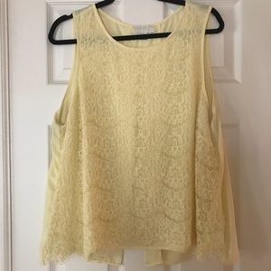 Forever21 Plus open-back lace top. Size 1X